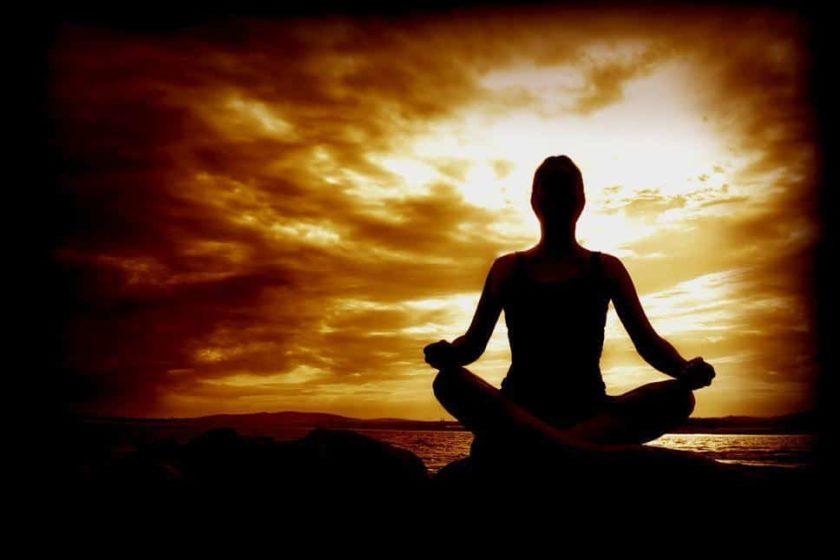 meditation sunset