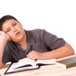 tired teen lack of sleep