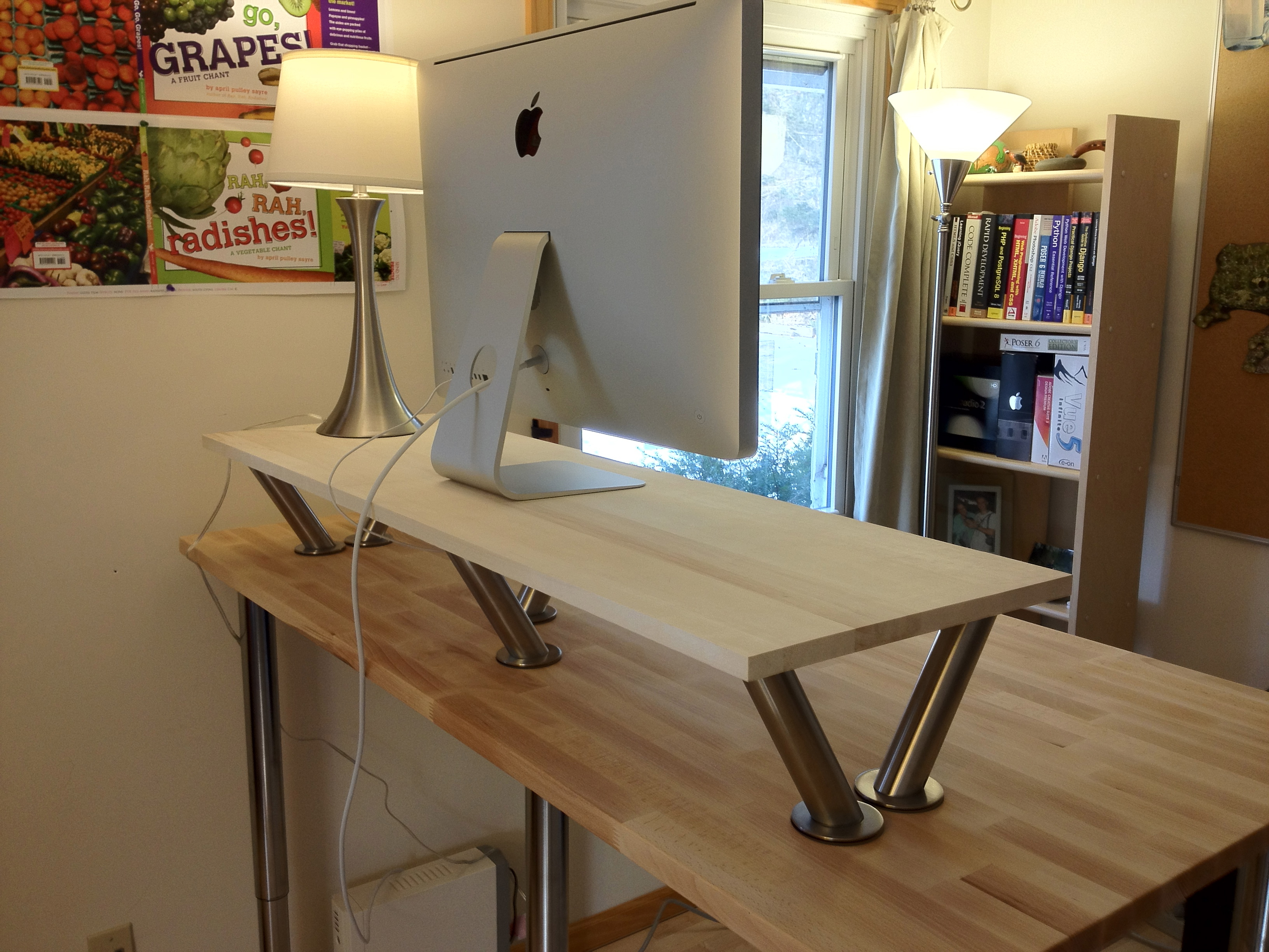 how to make a standing desk on top of a regular desk examined existence. Black Bedroom Furniture Sets. Home Design Ideas