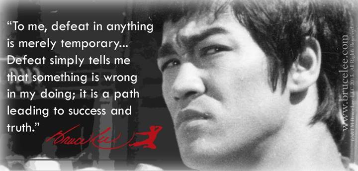 bruce lee defeat is only temporary