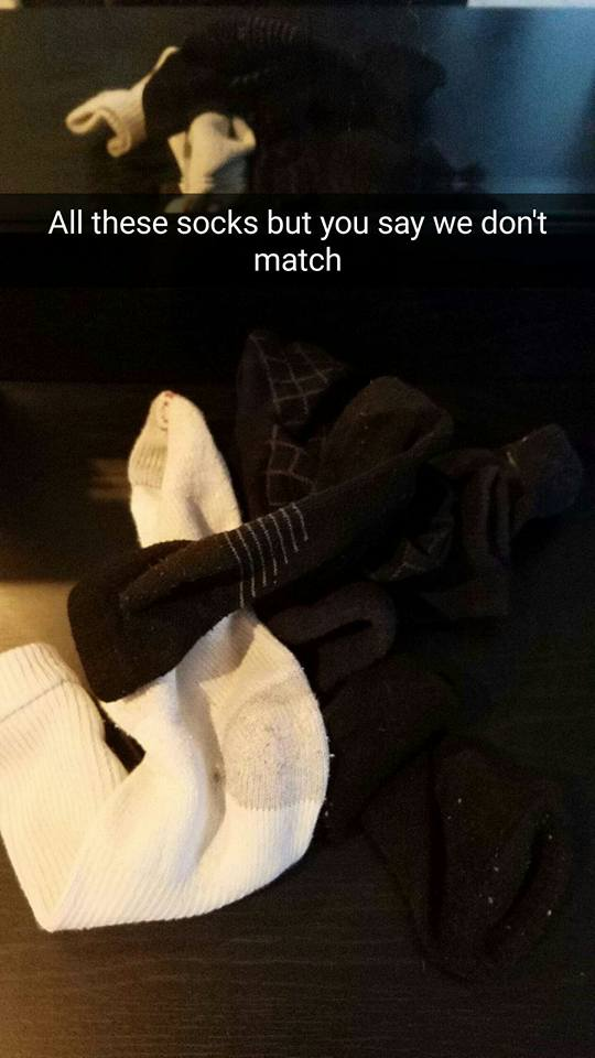 socks dont match