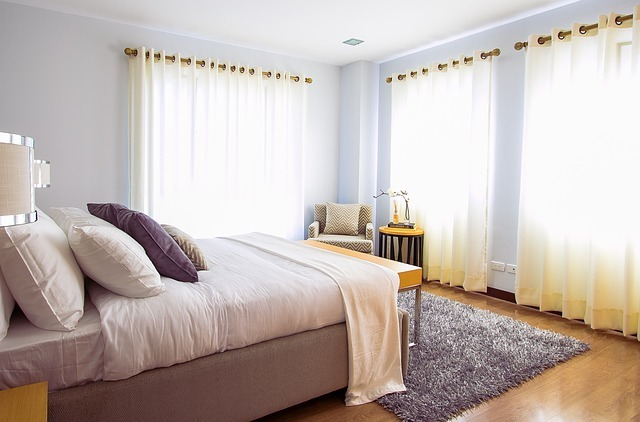 photo of a fully furnished bedroom