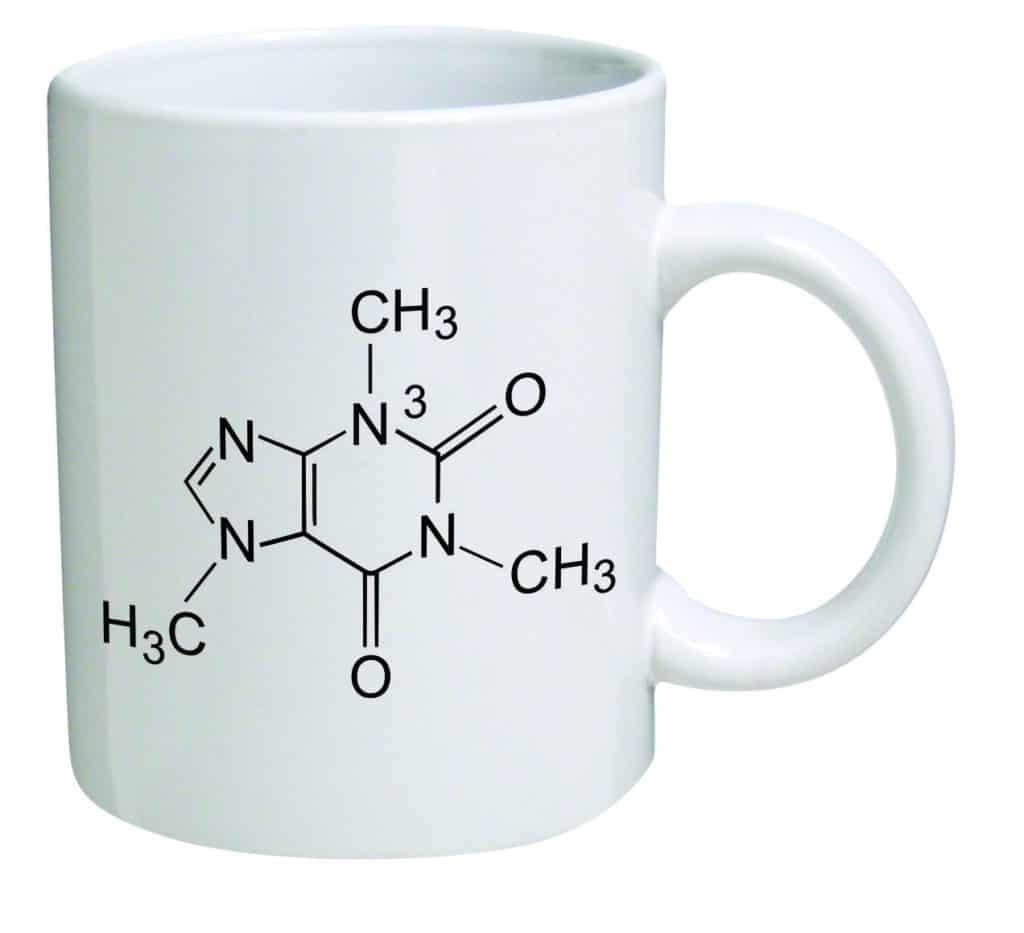 caffeine molecule coffee mug