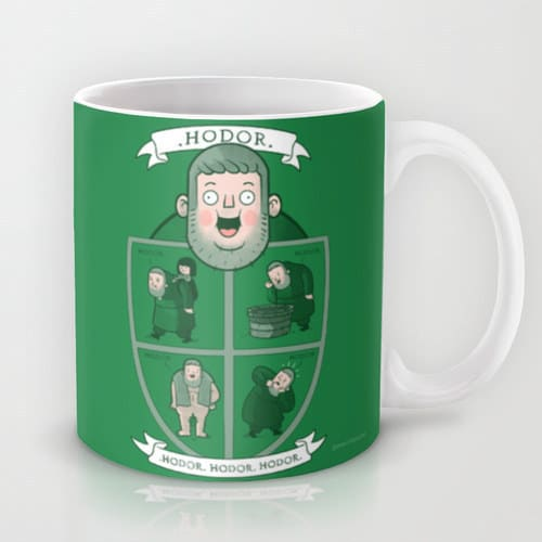 hodor coffee mug